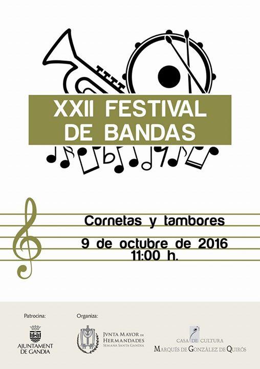 XXII Edición del Festival de Bandas de Cornetas y Tambores de la Semana Santa de Gandia