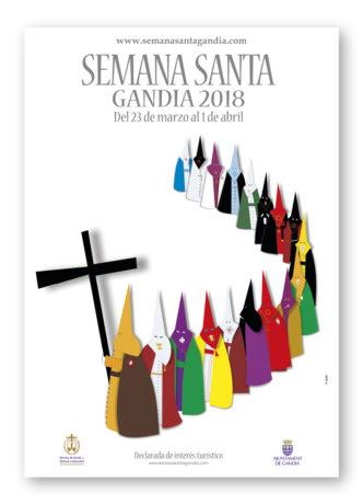Presentación del Passio, la Guía de Procesiones y el Cartel anunciador de la Semana Santa de Gandia 2018